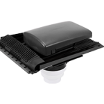Universal Tile Ventilator Grey 150mm dia c/w connector
