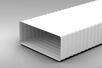 220x90mm Rectangular Hose square