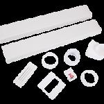 150x70mm Cooker Hood Rectangular x 3m Kit with Airbrick Kit