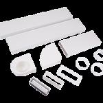 204x60mm Cooker Hood Rectangular 3m with Airbrick & Horizontal Bend Kit