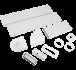 VVK5650 204x60mm Cooker Hood Rectangular 3m with Airbrick & Horizontal Bend Kit
