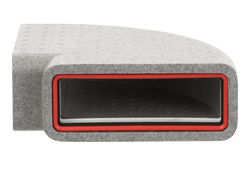 Thermal 220x90mm Rectangular Horizontal 90° Bend