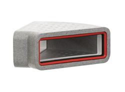 Thermal 204x60mm Rectangular Horizontal 45° Bend